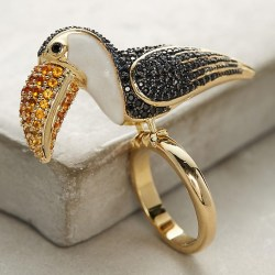 Parrot Cocktail Ring