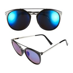 Mirrored Blue Lens 55mm Womens Sunglasses by BP