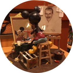 Disney Mickey Mouse and Walt Disney Self Portrait Figurine by Charles Boyer
