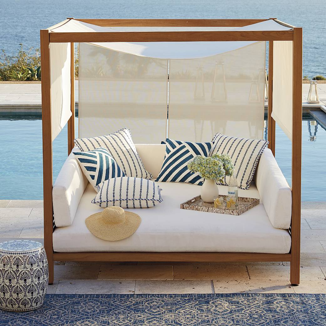 frontgate outdoor lounge chairs parson chair covers pier one mandabo daybed malibu mart