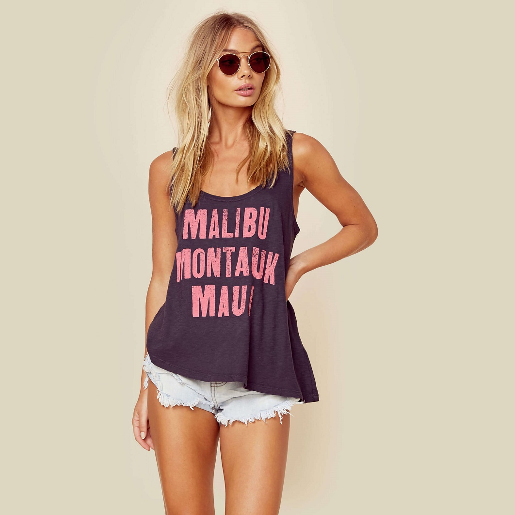 Malibu Montauk Maui Tank Top by Sundry Clothing