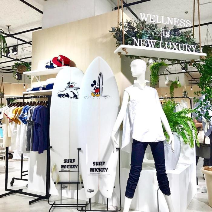 SURF MICKEY Tokyo Japan Store Display by Special Product Design in Isetan Shinjuku Department Store