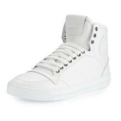 Versace Leather High-Top Mens Sneakers