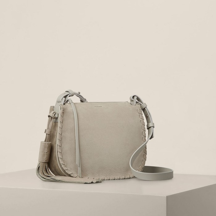 All Saints Mori Nubuck Crossbody Bag