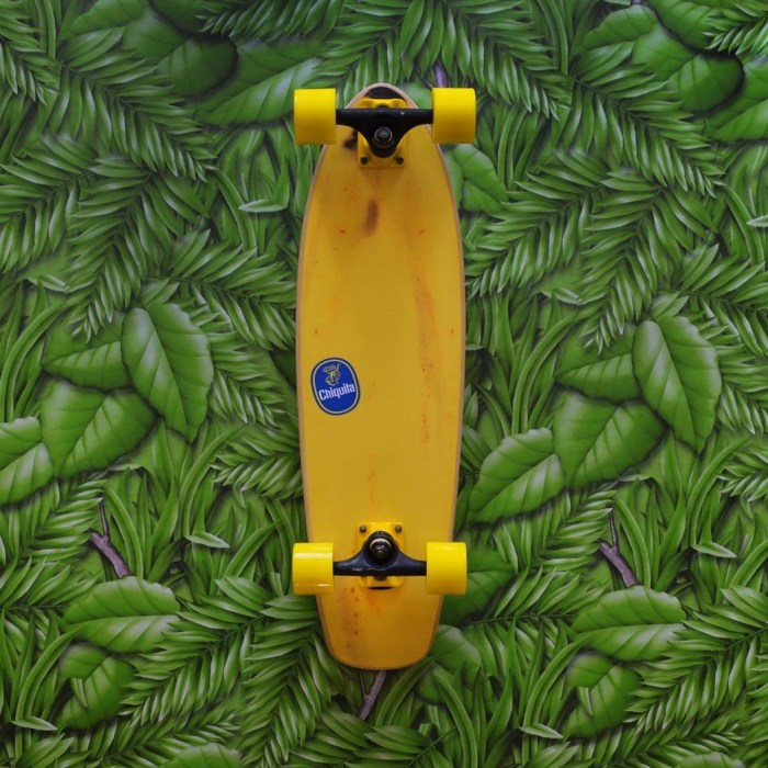 Banana Skateboard Art Print