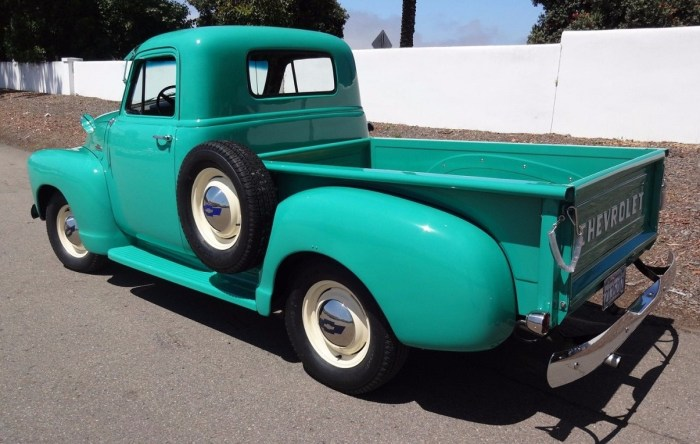 1954 Chevrolet 3100 Series Ocean Green Short Bed Pickup Truck
