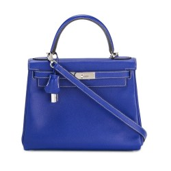 Hermès Vintage Blue Leather Birkin Tote Bag
