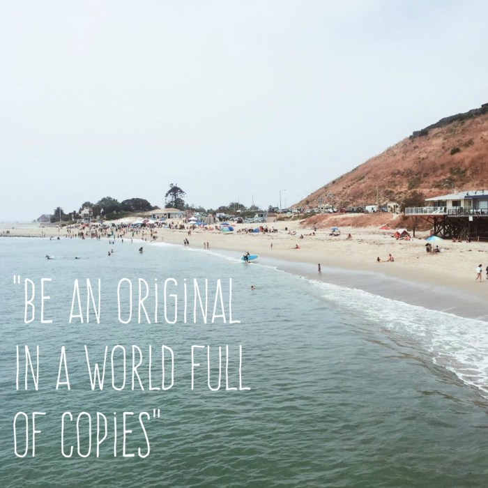 """Be An Original in a World Full of Copies"""