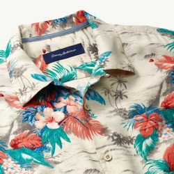 Tommy Bahama Scene Chaser Mens Hawaiian Camp Shirt