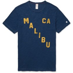 MALIBU Printed Slub Mens Cotton-Jersey T-Shirt by Todd Snyder x Champion