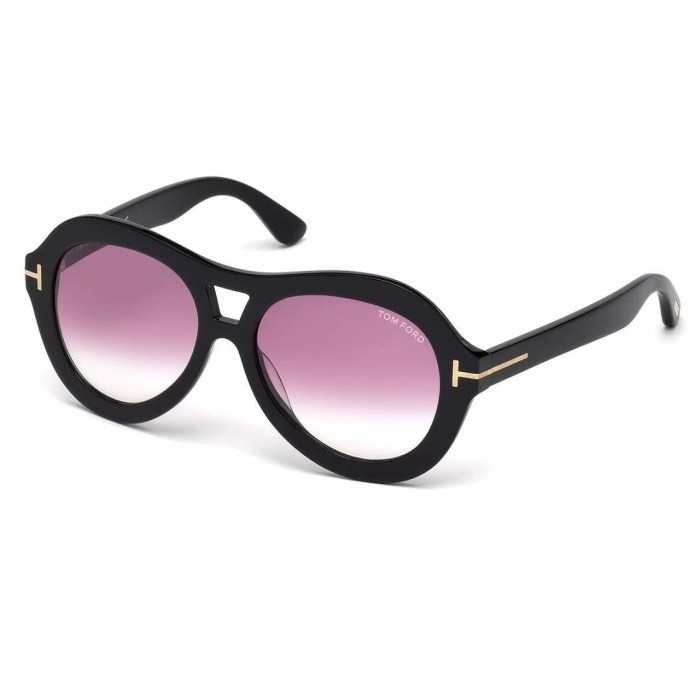 TOM FORD Isla Chunky Aviator Sunglasses