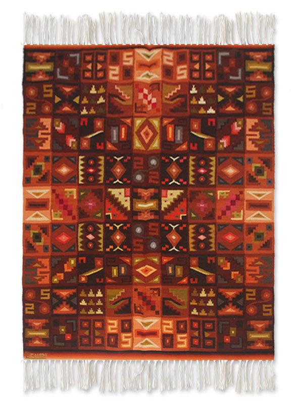 Wool Rug 4 x 6 Calendar in Symmetry