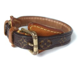 LOUIS VUITTON Monogram Canvas Leather Bracelet