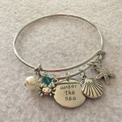 Disney Inspired Little Mermaid Under The Sea Bangle Charm Bracelet