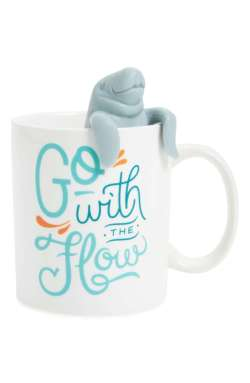 Fred and Friends Two For Tea Manatea Mug & Tea Infuser Set