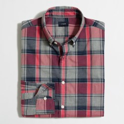 J. Crew Heathered Washed Mens Shirt