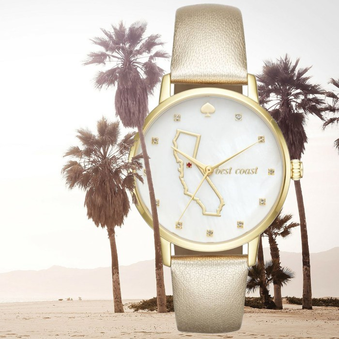 Kate Spade Metro California State of Mind 'Best Coast' Leather Strap Watch