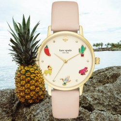 KATE SPADE NEW YORK Metro Novelty 34mm Womens Leather Strap Watch