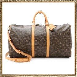 Louis Vuitton Monogram Keepall 55 Duffle Bag