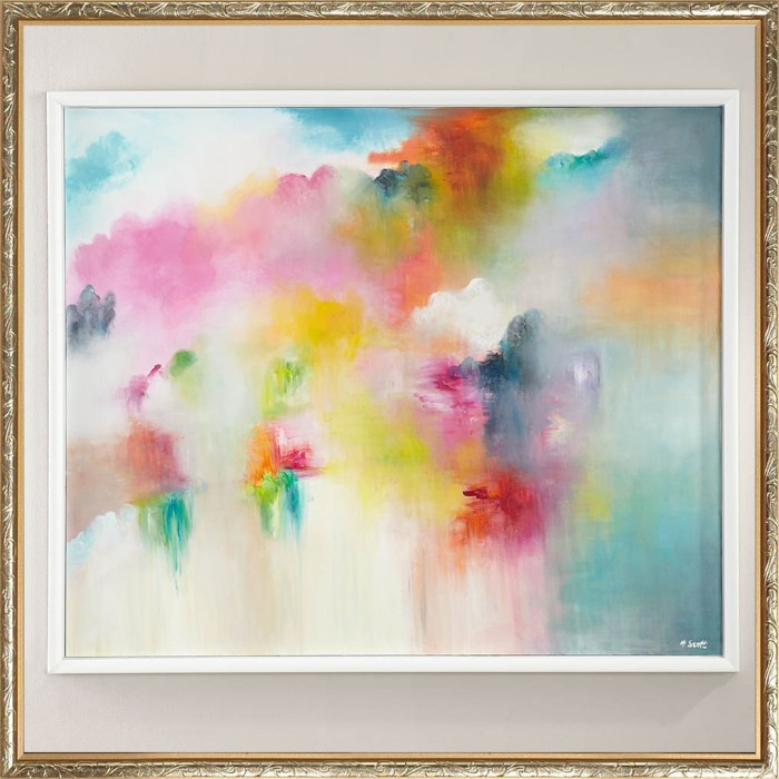 """Peppy Preppy"" Original Abstract Watercolor Painting by RFA Fine Art"