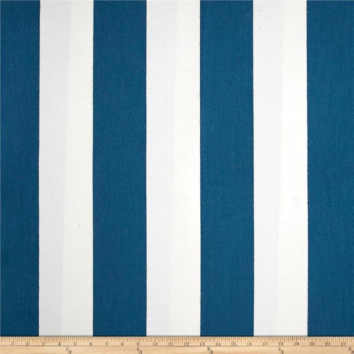 Sunbrella Outdoor Cabana Ragatta Blue & White Stripe Fabric