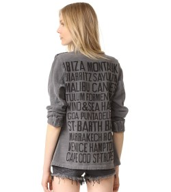 SUNDRY Vacation Cities Army Jacket