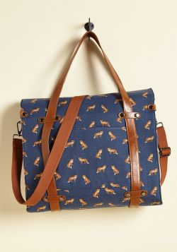 Camp Director Foxes Tote Bag Malibu Mart