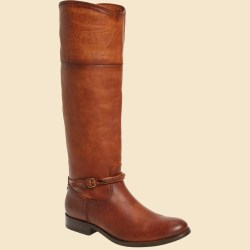 FRYE Melissa Seam Cognac Knee High Boots