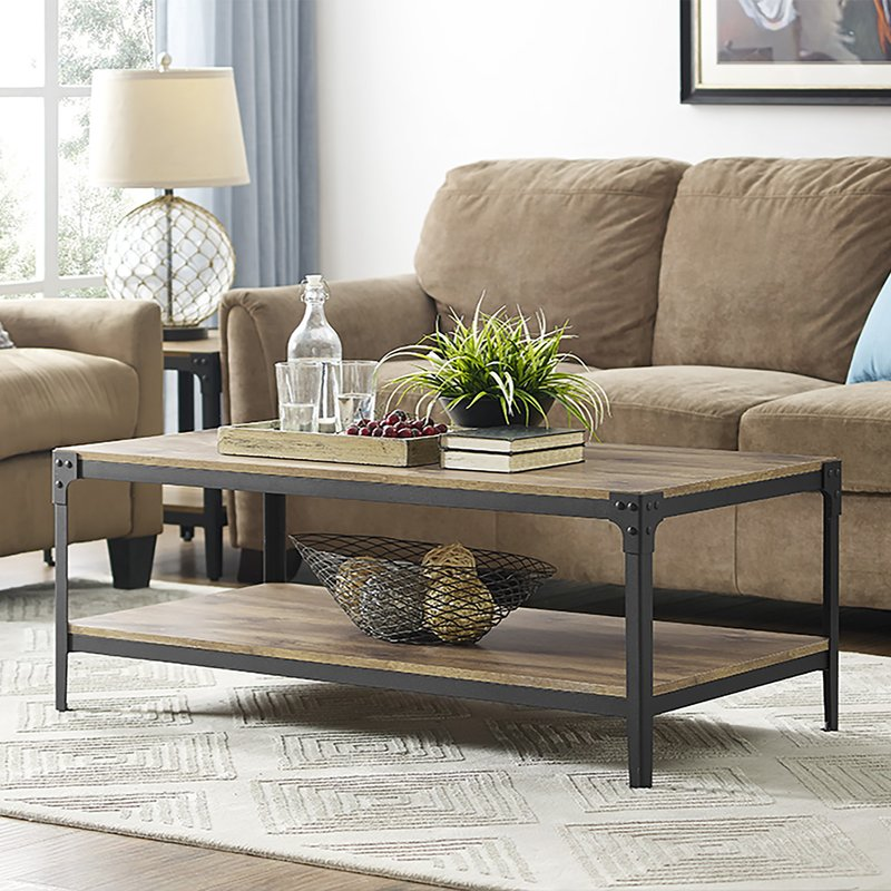Arboleda Rustic Wood Coffee Table by Loon Peak
