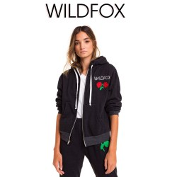 Wildfox Wild Rose Regan Womens Zip Hoodie