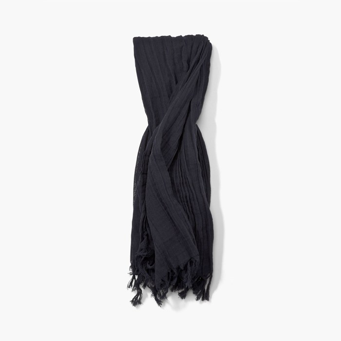 John Varvatos Midnight Crinkled Scarf