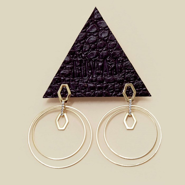 Luv AJ Chain Link Statement Hoop Earrings