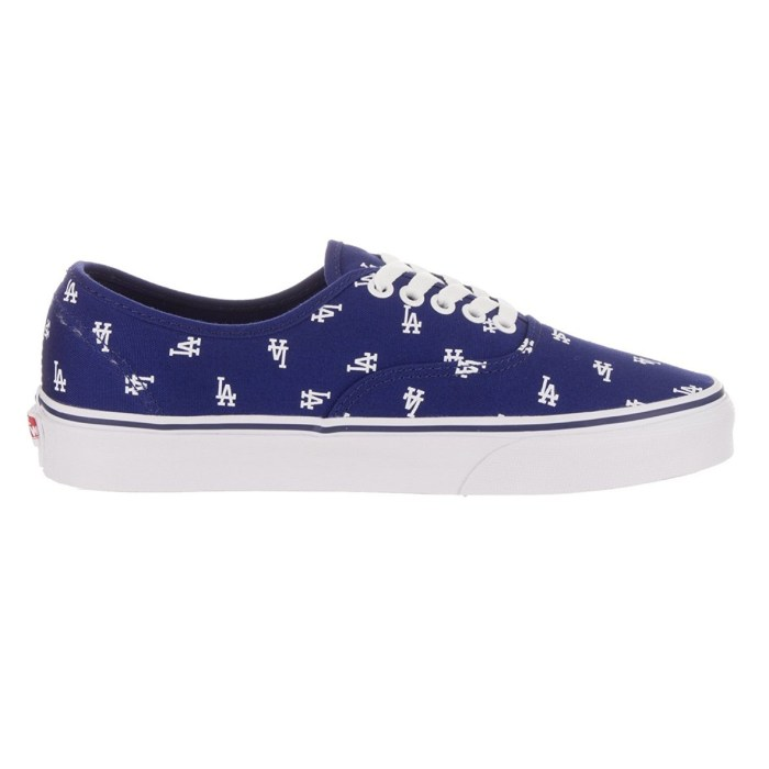 Vans LA Dodgers Print MLB Baseball Skate Shoes