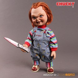 Child's Play Chucky Movie Talking Sneering 15-Inch Doll Action Figure in Box 2017 Toy Pre- ...
