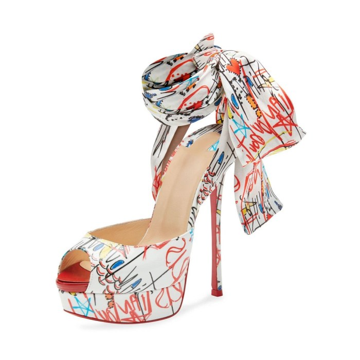 Christian Louboutin Jersey Loubitag Platform Red Sole Sandals