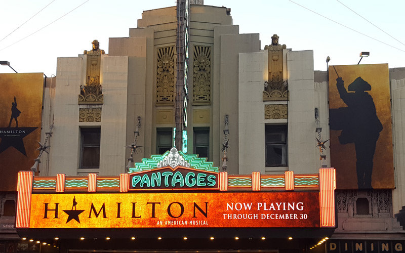 2 HAMILTON 5th ROW! Orchestra Pantages Los Angeles Saturday 10/28 8pm E-Tickets