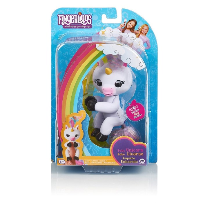WOWWEE Fingerlings Interactive Baby Unicorn GIGI Electronic Pet Toy Puppet