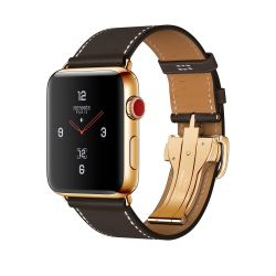 Hermes 24k Custom Apple Watch SERIES 3 Cellular Data Ebene Barenia Single Tour Deployment