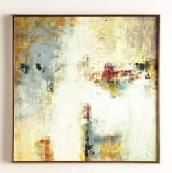 """Connectivity"" Framed Abstract Giclee Painting by Lisa Ridgers"