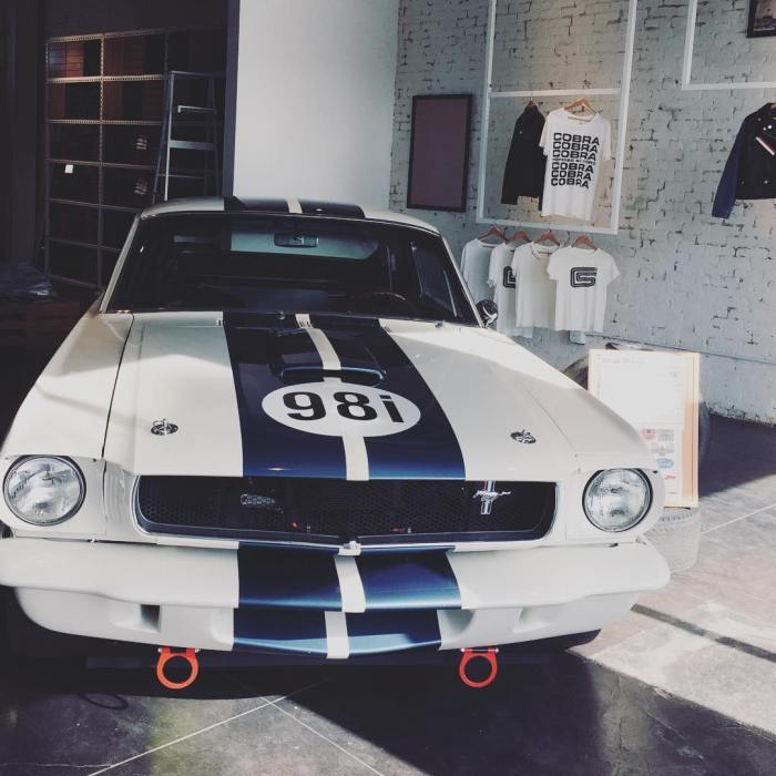 Mustang Cobra at Tees + Jeans on Abbot Kinney Blvd in Venice California