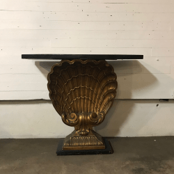 Grosfeld House Gilt Shell Console Table
