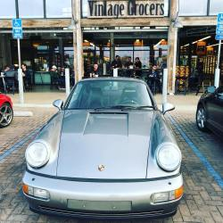 Vintage Porsche at Vintage Grocers at Trancas Country Market in Malibu