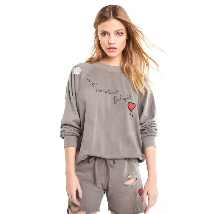 Wildfox Im a Constant Delight Sommers Vintage Inspired Sweatshirt