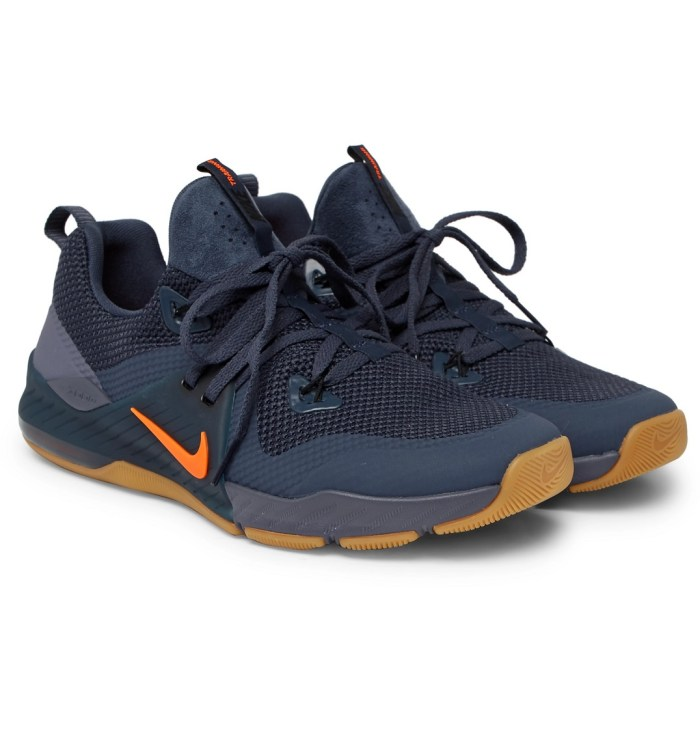 Nike Training Zoom Train Command Faux Suede-Trimmed Mesh Sneakers