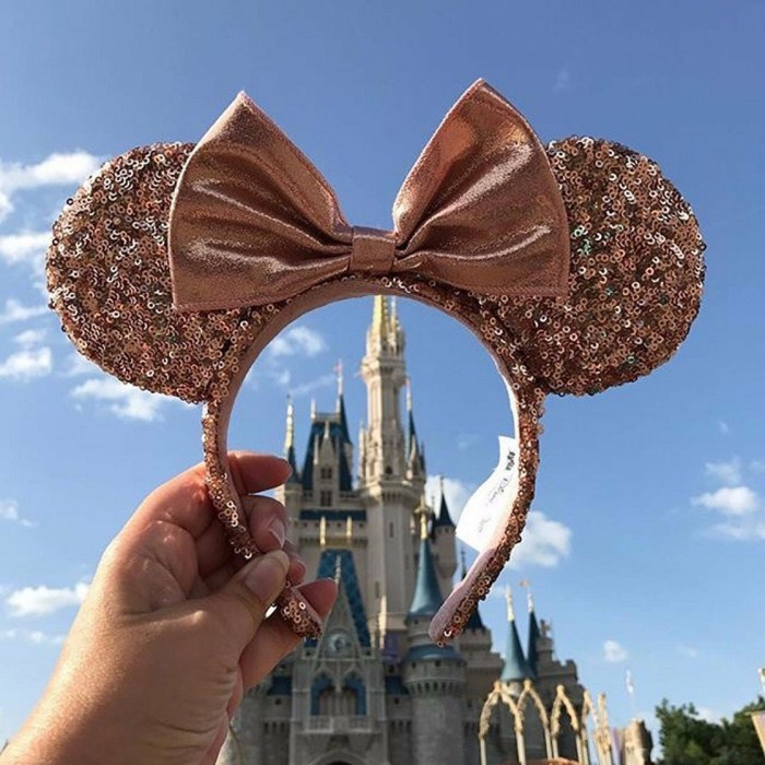 Disneyland Rose Gold Sequins Minnie Mouse Ears