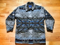 PENDLETON Vintage Aztec Western Wear Wool Blanket Coat Suze Small Mens Jacket