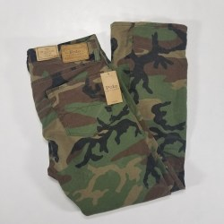 New Polo Ralph Lauren Sullivan Slim Stretch 34×32 Camouflage Mens Jeans