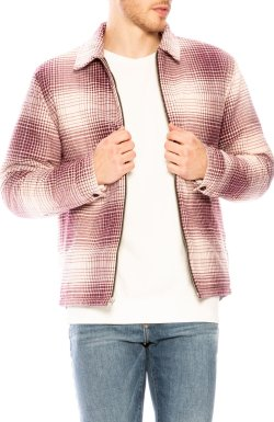 STUSSY Plaid Zip Up Shacket