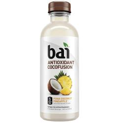 Bai Coconut Flavored Water, Puna Coconut Pineapple, Antioxidant Infused Drinks, 18 Fluid Ounce B ...