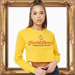 Chuck E Cheese Womens Crop Top